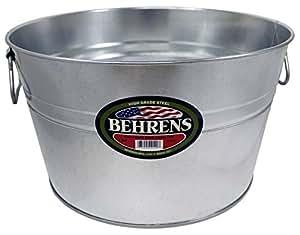Behrens 0GS Galvanized Steel Round Tub, 5 gallon