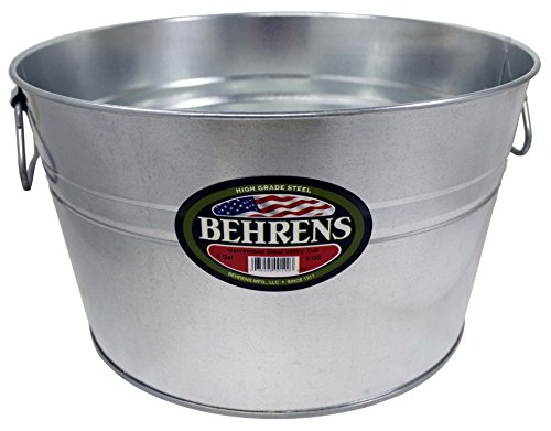 Behrens TV205351 0GS Galvanized Steel Round Tub, 5 Gallon, 5-Gallon,]()