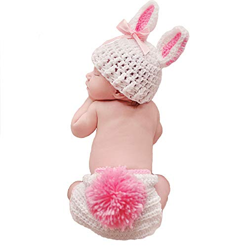 (Fashion Cute Newborn Girl Baby Christmas Rabbit Bunny Outfits Photography)