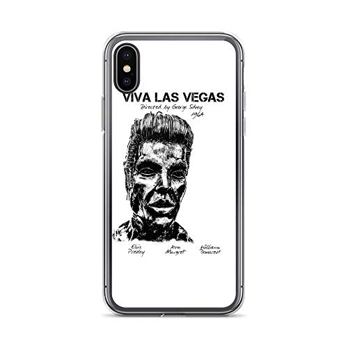 iPhone X/XS Case Anti-Scratch Motion Picture Transparent Cases Cover Viva Las Vegas Movies Video Film Crystal Clear