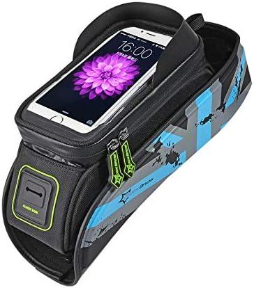 CFGUENITTJ Bicycle Bag MTB Road Bike Bag Rainproof Touch Screen Cycling Front Tube Frame Bag Phone Case Bike Accessories