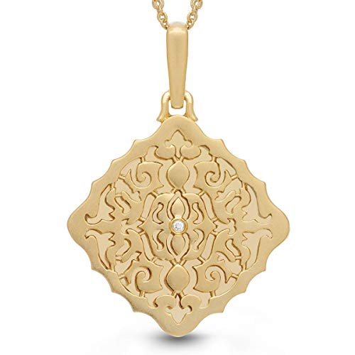 With You Lockets-Fine Yellow Gold-Custom Photo Locket Necklace-That Holds Pictures For Women-The Mimi by With You Lockets (Image #8)