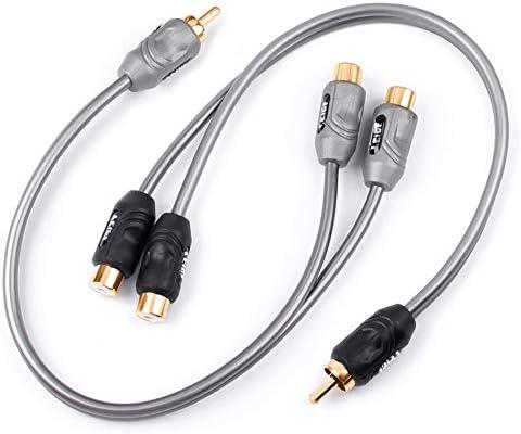 LEIGESAUDIO 1フィート RCA Yアダプター スプリッターコネクター (2個パック) 1 Male to 2 Fem