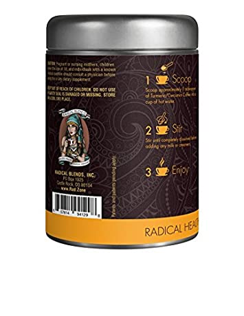 Turmeric Curcumin Supplement with Nrf2 Activator Support – 100 Arabica Soluble and Microground Coffee, Full Spectrum, Non-GMO, GMP Certified – 185x Better Absorption 120 g