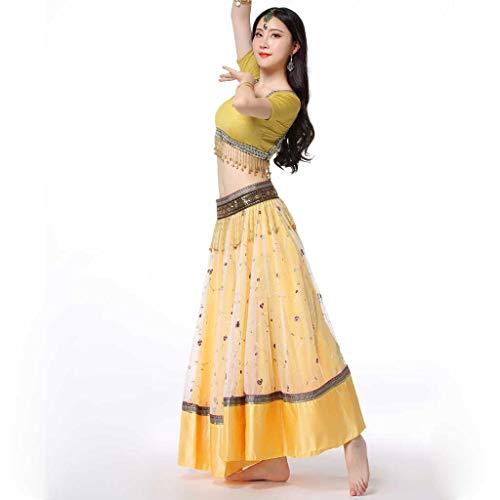 Bollywood Danse De Jaune Brodée Ventre Pour Yts Jupe Femme Du Le 4TnwPxa