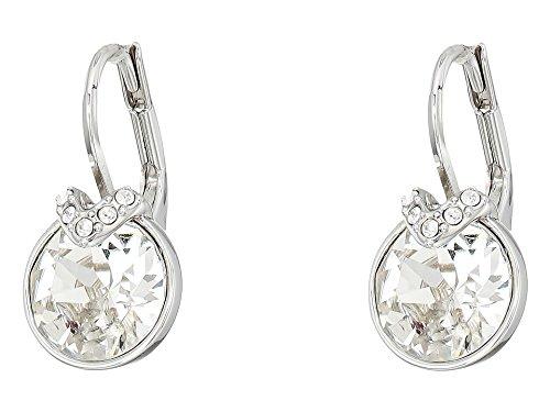 Swarovski Crystal White Bella V Rhodium-Plated Earrings