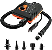 Galapare 16PSI Electric Inflation SUP Air Pump with 6PCS Nozzles for Inflatable SUP and Boat