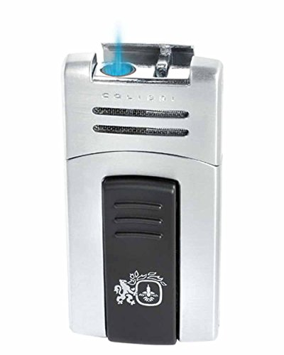 Quantum Lighter (Syndicate Quantum Single Torch Flame Cigar Lighter in an Attractive Gift Box Satin Silver)