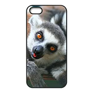 ALICASE Diy Customized Hard Case Lemur for iPhone 5,5S [Pattern-1]