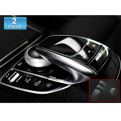 [Pack of 2] Navigation Touch Controller PET Film for Mercedes Benz COMAND Touchpad, Touch Screen Sensitive Protector Invisible Ultra HD Clear Film Anti Scratch Skin Guard