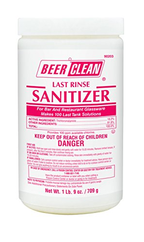 Diversey Beer Clean Last Rinse Sanitizer (25-Ounce, 2-Pack) (Bar Glasses Beer)