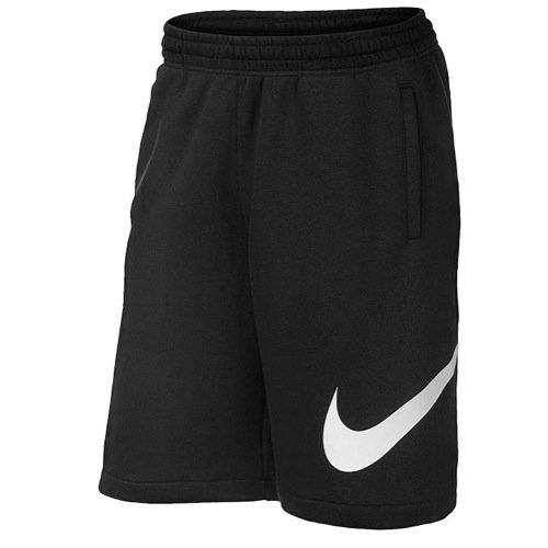Nike Mens Club Exploded Swoosh Shorts Black/White 633523-010 Size Large