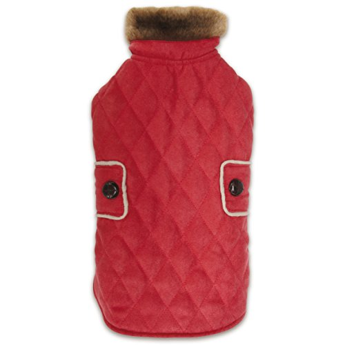 - Zack & Zoey Elements Derby Quilted Coat, Small, Red