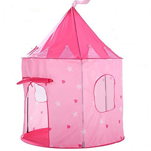 Famoy Girls Play Tent Princess Castle for Indoor and Outdoor Use, Your Baby will Enjoy this Foldable Pink Ball Pit, 1- 6 Years Old Children Game Toys