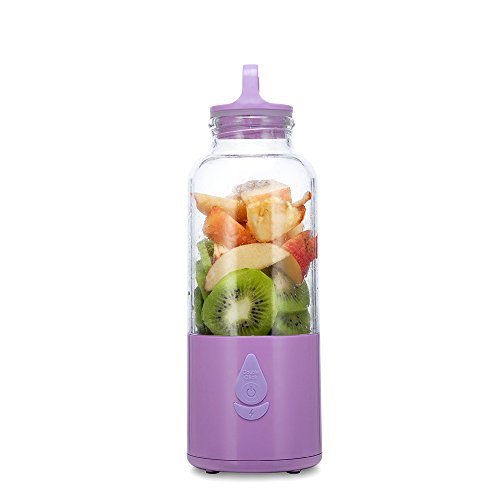 USB Juicer Cup, Fruit Mixing Machine Portable Mini Rechargeable Mixer, Blender, Water Bottle 550ml with USB Charger Cable Portable Juice Blender 360
