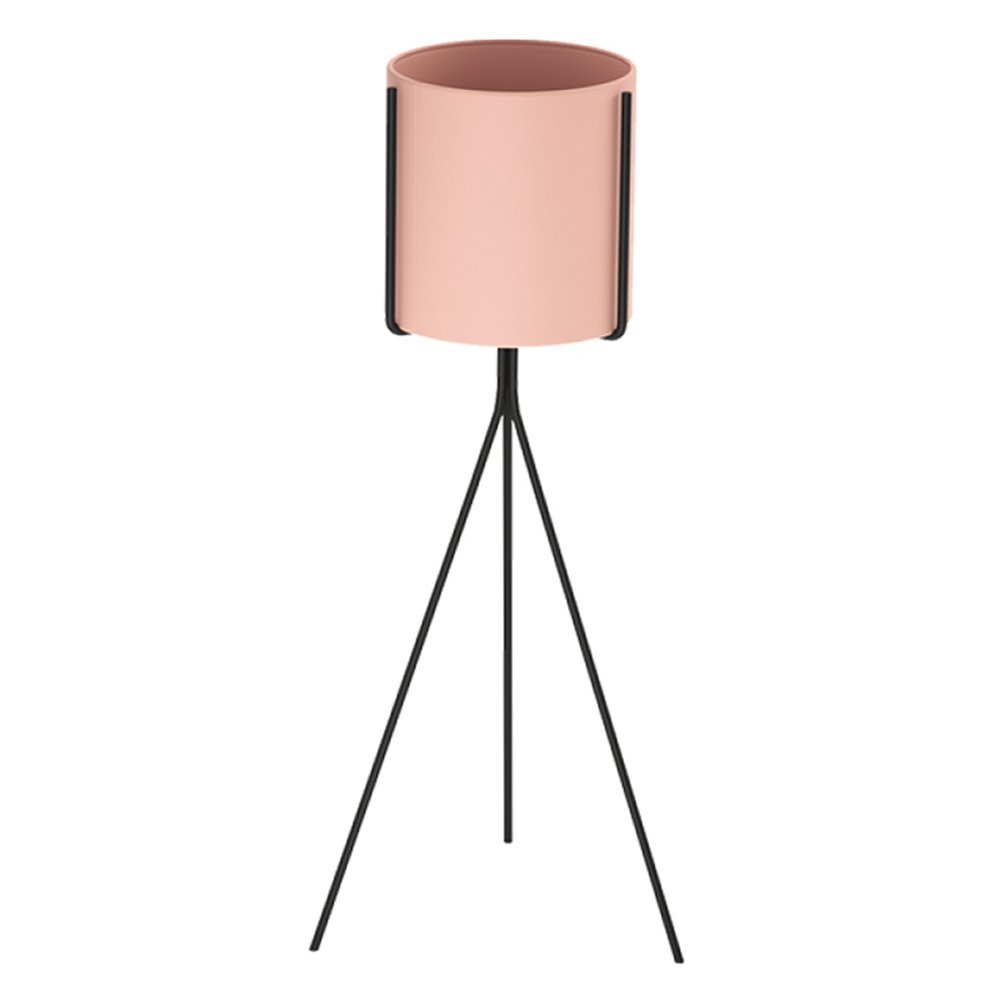 MZL Portafiori in Ferro battuto Portaoggetti da Terra in Stile Nordico Mensola Multifunzionale ad Angolo per Soggiorno con Balcone (colore   rosa, Dimensioni   L.)
