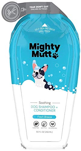 Mighty Mutt Natural & Hypoallergenic Dog Shampoo and Conditioner, Anti-Itch, Soothing and Deodorizing (9oz)