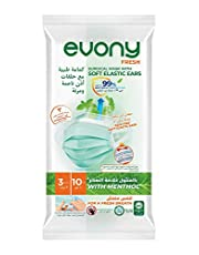 Evony Surgical Masks with Soft Elastic Ears and Menthol - 10 Pieces