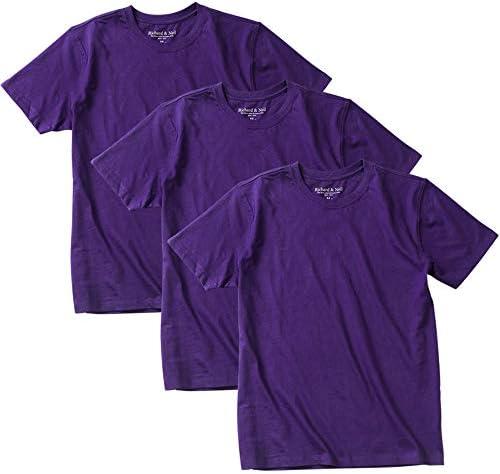 Tシャツメンズ 大きいサイズ 無地 (オーガニックコットン) 半袖 3枚組 おおきい 2L 3L 4L 5L 6L 8L 夏 綿