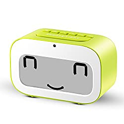 LED Travel Alarm Clock | Dynamic Emoji LED Display Multifunctional Electronic Snooze Smart Backlight Desktop Digital Double Alarm Clocks/Timer/Thermometer/Date/Day countdown by VARANDA (Green)