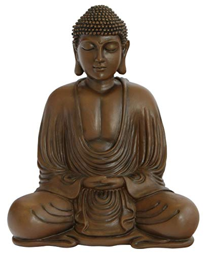 Meditating Buddha Statue, Brown Color, 9.5 Inches