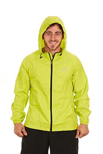 ASICS Men's Packable Jacket, Lime, XL