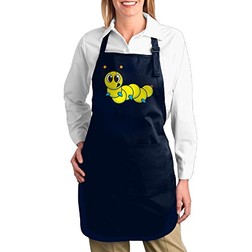 Man In The Yellow Hat Costume Ebay (Dogquxio Cute Yellow Caterpillar Kitchen Helper Professional Bib Apron With 2 Pockets For Women Men Adults Navy)