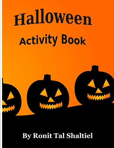 Halloween activity book: Coloring, counting, mazes and hidden words game-for kids. ()