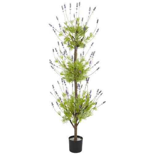 Nearly Natural 5332 Topiary Silk Tree, 4-Feet, - Topiary Lavender