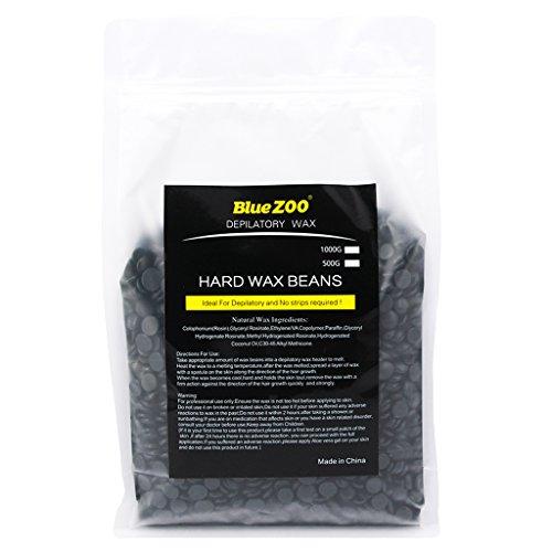 Dovewill 1000g Brazilian Depilatory Wax No Strip Depilatory Hot Film Hard Wax Pellet Waxing Bikini Hair Removal Bean - Black