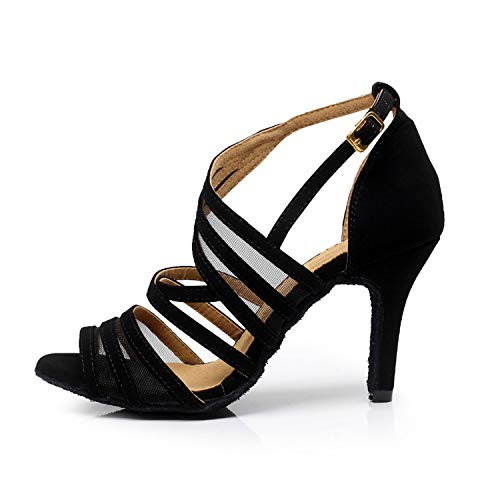 Latin High Heel Sandals Tango Ballroom 5cm Shoes Heel Salsa Female Shoes Black Social 8 Party Dance Dance Women's Syrads OSwqpw