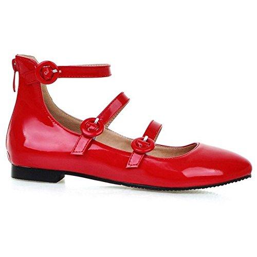 Femmes Escarpins Mode red Cheville JOJONUNU Bride wdzRwq