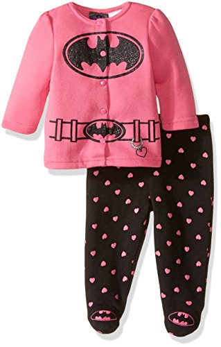 warner-brothers-baby-girls-batbaby-girl-fleece-jacket-and-pant-set-pink-3-6-months