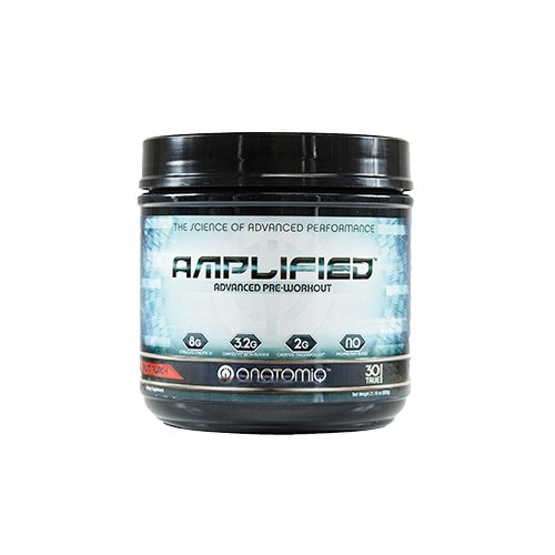 AMPLIFIED: Advanced Pre-Workout; Science-Backed Pre Workout + Clinically Dosed Ingredients. Top New Pre Workout to Increase Strength, Boost Nitric Oxide, Energy & Focus - Fruit Punch, 30 TRUE servings