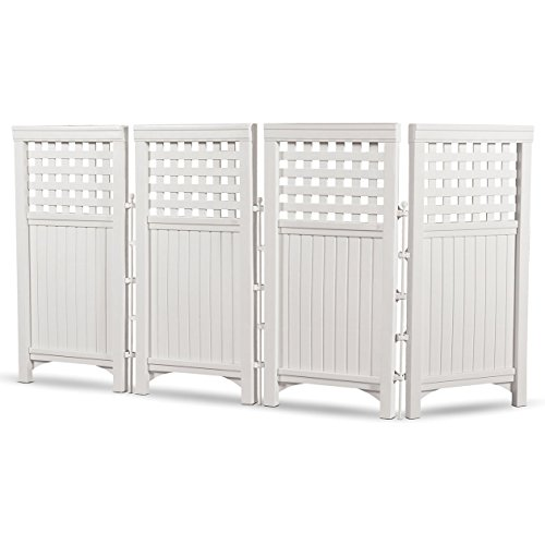 4 Panels Screen Decor Landscaping Parkland Resin Adjustable Zigzag or L-Shape Privacy Garden Balcony Outdoor Indoor 23