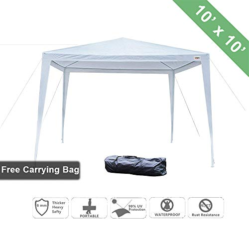 VINGLI 10' x 10' Outdoor Gazebo Canopy Tent, Portable Party Wedding BBQ Pavilion Canopy Catering Events Tent,Upgraded Thicken Tube,Gift with Carrying Bag by VINGLI