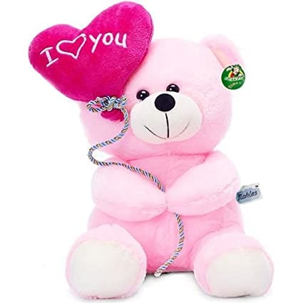 Buy I Love You Balloon Heart Teddy 18 cm (18 cm, Pink) Online at Low Prices in India - Amazon.in
