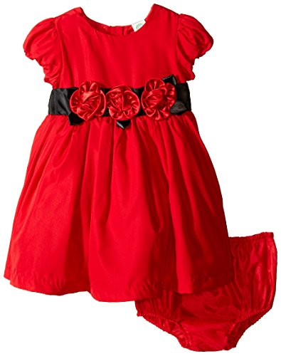 Little Me Baby Girls' Red Rose Dress and Panty, Red, 24 M...