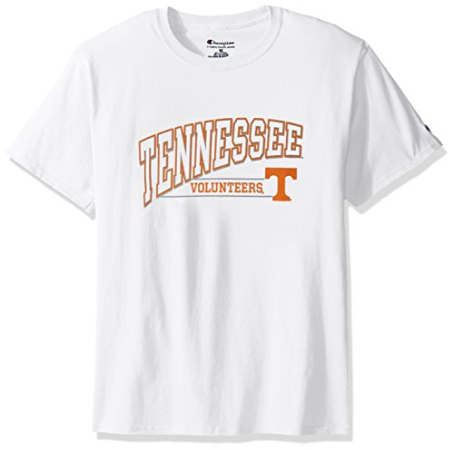 NCAA Tennessee Volunteers Men's Champ Short Sleeve T-Shirt 4, Medium, White