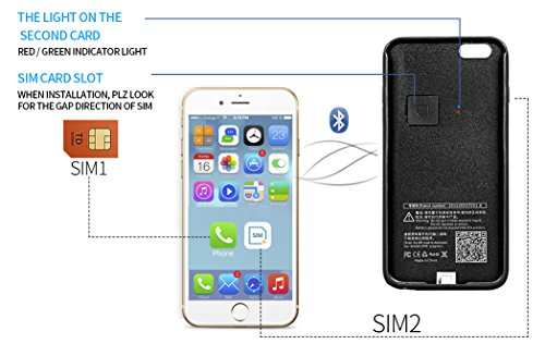new styles 6acbe 4db19 Dual SIM Adapter, Portable Battery Case for iPhone 6 Plus / 6s ...