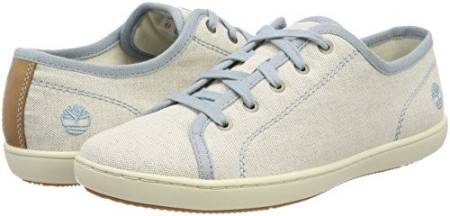 Blue Timberland Women''s With Canvas Natural Tan E42 stone Oxfords Mayport wq4RUq