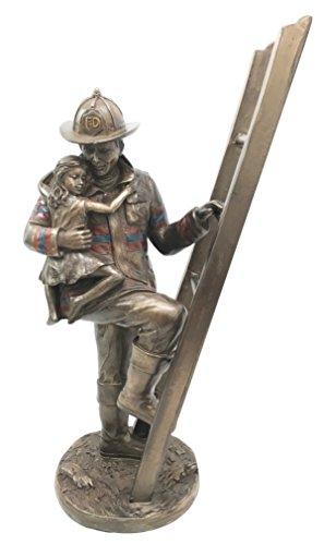 Fireman Fighter Saving Descending Figurine product image