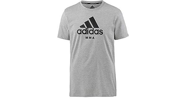 Adidas Community Camiseta MMA Gris Comunidad Camiseta MMA Negro con Blanco- Azul Imprimir S - XXL: Amazon.es: Deportes y aire libre