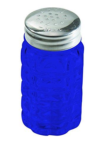Cobalt Glass Salt (Cobalt Blue Classic Shaker 2 oz. set of 2 - Additional Vibrant Colors Available by TableTop King)