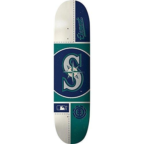 戻るつば三ElementスケートボードMLB Seattle Mariners円スケートボードデッキ-8.0デッキ – Assembled as complete skateboard