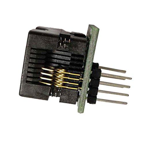 MonkeyJack 1.27mm Pitch SOP8 To DIP8 Programmer Adapter Socket Converter Module 1.1''x 0.94''x 0.67'' - SOIC8 SOP8 to DIP8 - 200mil