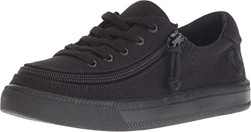 BILLY Footwear Kids Unisex Classic Lace Low (Toddler/Little Kid/Big Kid) Black to The Floor 2 M US Little Kid (Big Black Footwear)