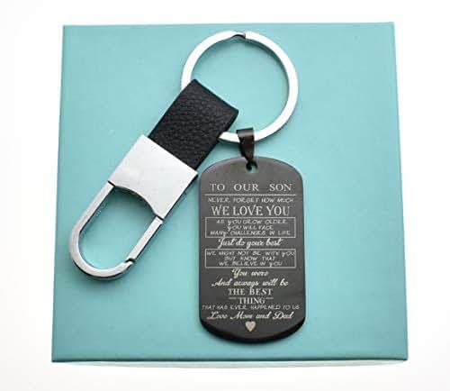 Amazon Son Keychain In Black Stainless Steel Teen Boy Gift