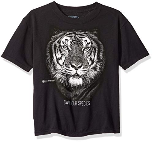 The Mountain Big Wildlife Protection, Save The Tiger Kid's T-Shirt, Black, Small