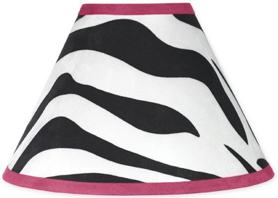 Funky Zebra Lamp Shade By Sweet Jojo Designs from Sweet Jojo Designs